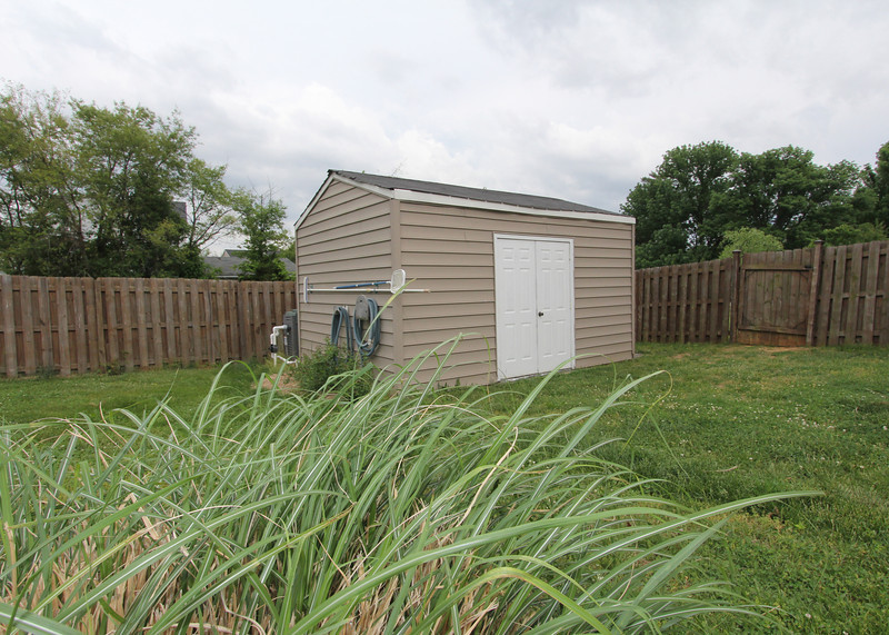 Great shed for storage and pool gear.