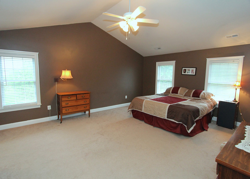 Huge Master Bedroom with vaulted ceiling.