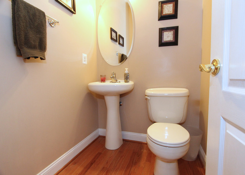 Main level half-bath.