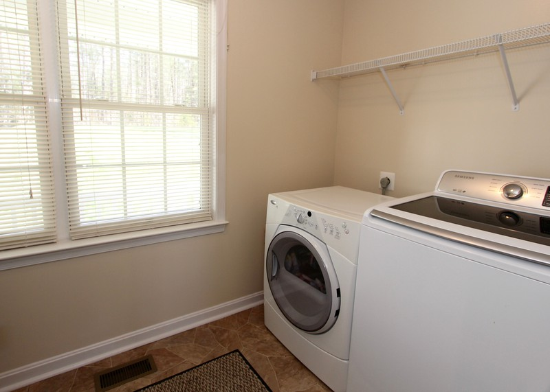 Separate laundry room on main level