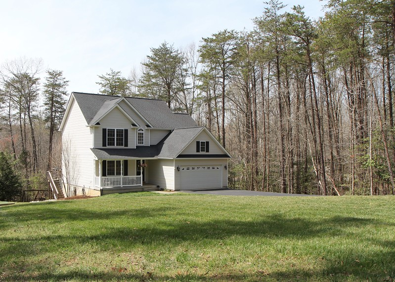 Private lot on over 1/2 acre
