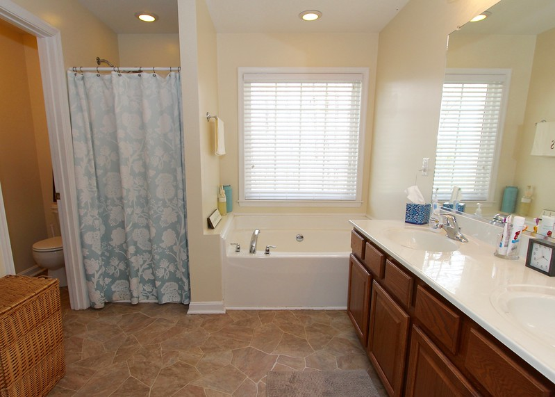 MBA has separate soaking tub, shower & large double vanity!