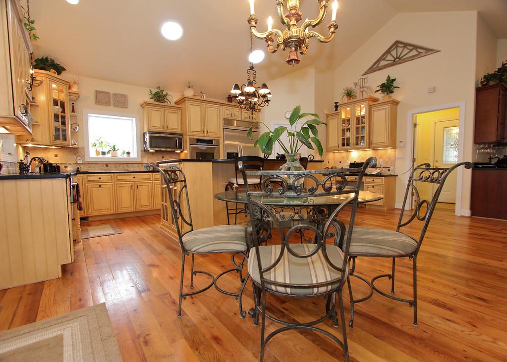 Elegant gourmet kitchen tastefully designed for gatherings of all sizes.