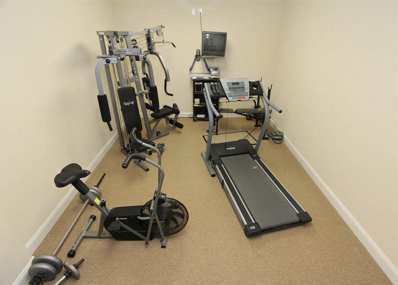 Exercise room in the lower level.