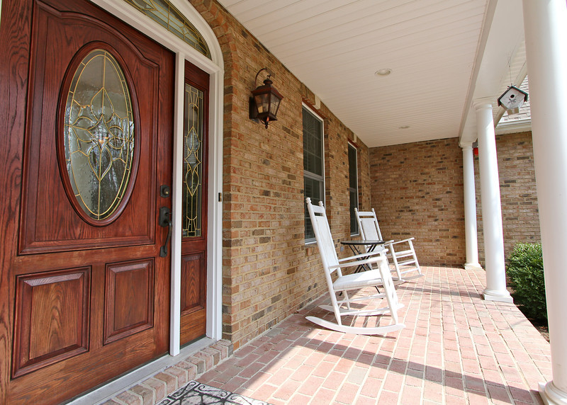 Great brick front porch.