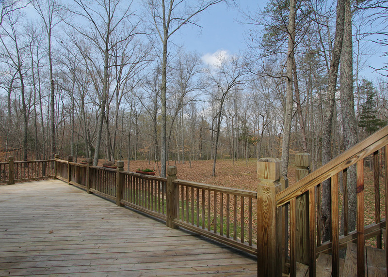 View of back acreage from lower deck.