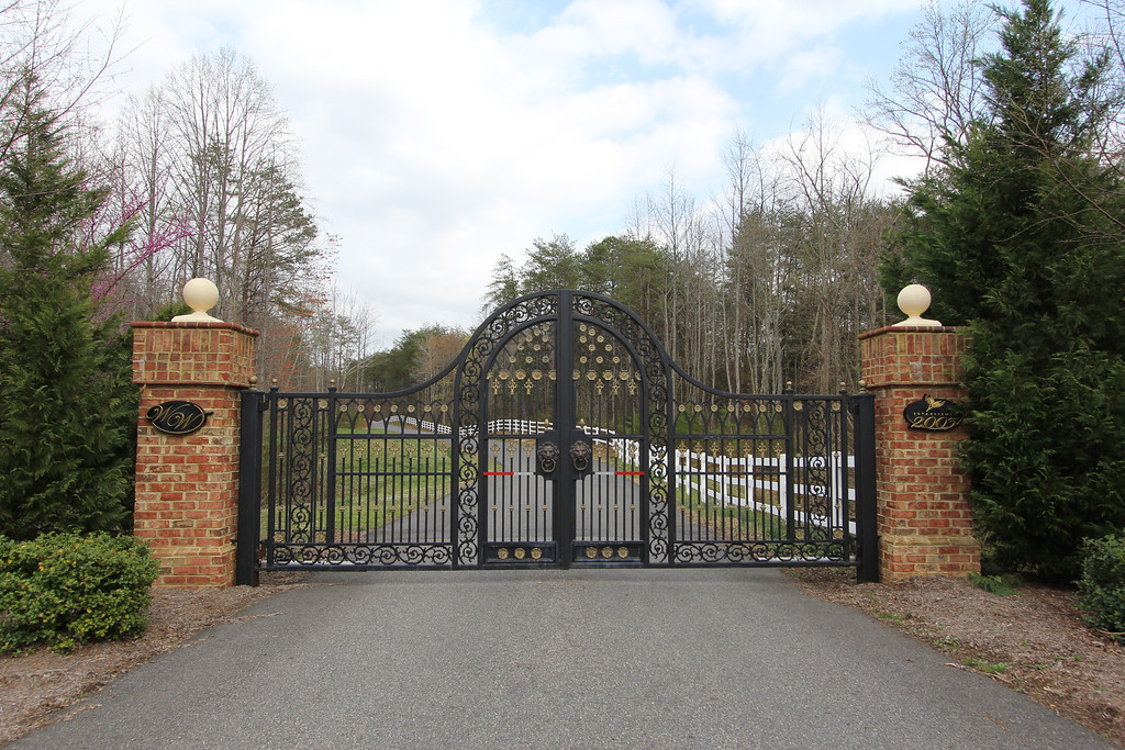 Entrance security gate for Wheatland Woods.