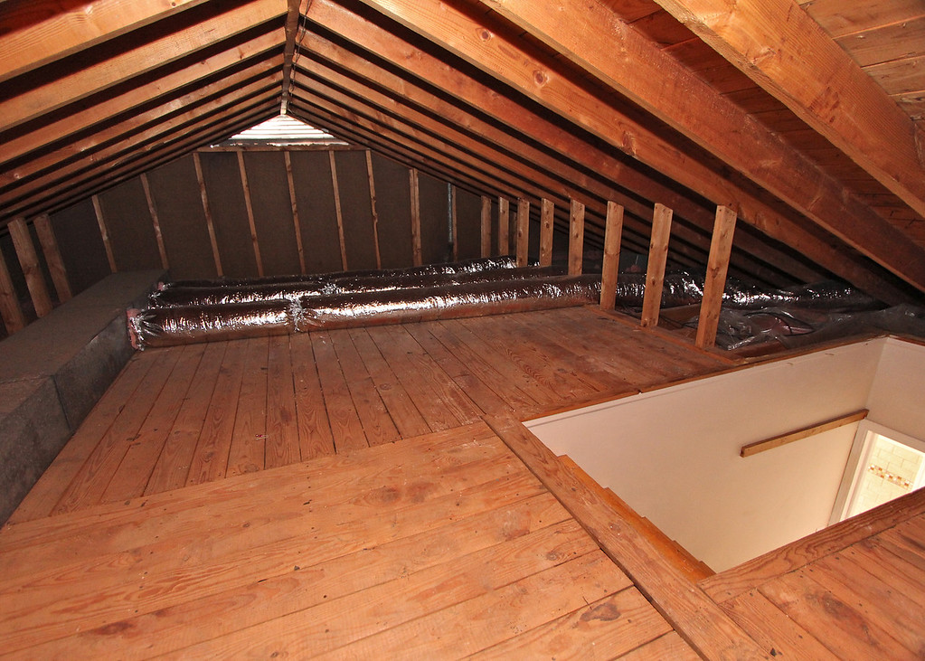 A walk-up attic is spacious, clean and ready for your extra storage.