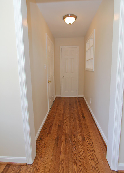 Entry hall with coat closet.