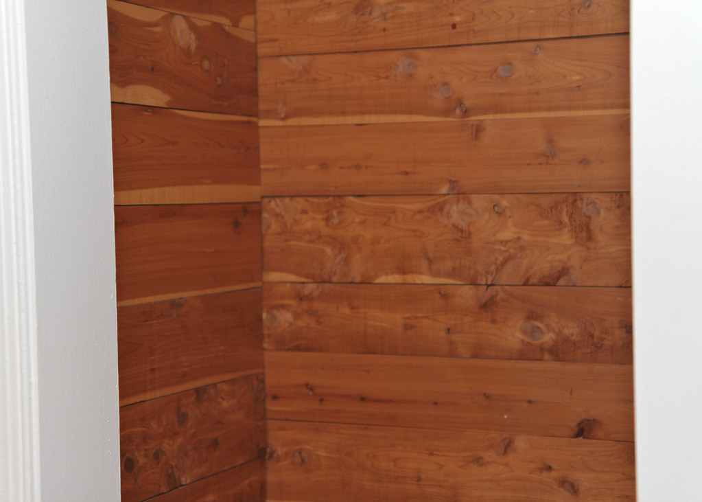 Cedar-lined closets in bedroom #2.