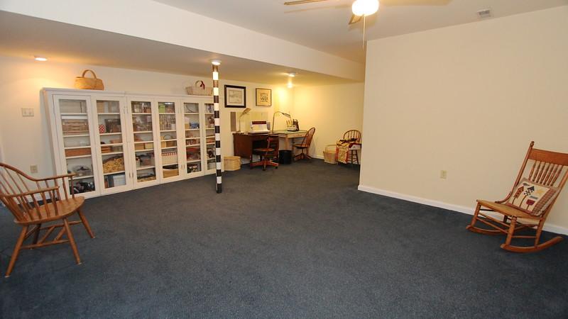 Finished basement area