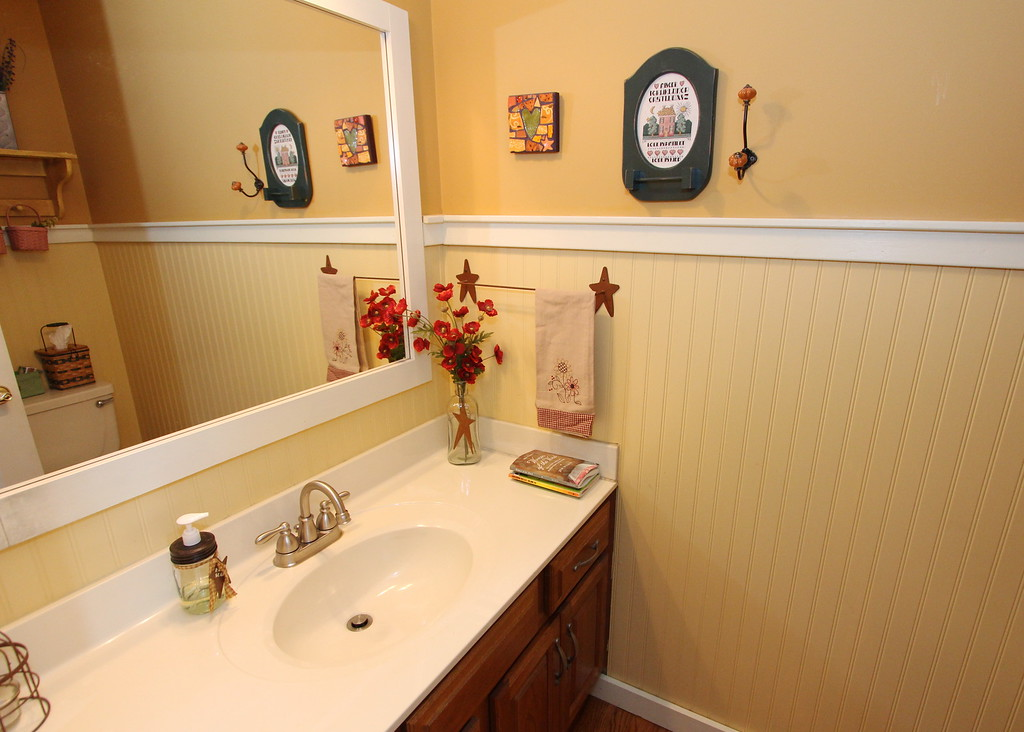 Charming main level half bath