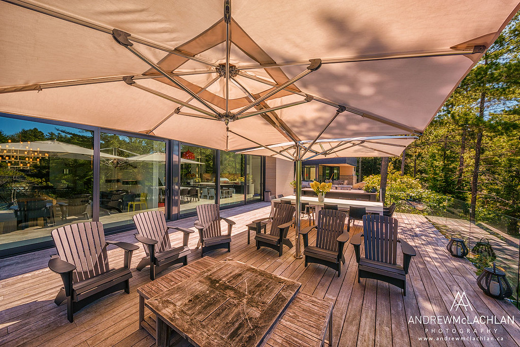 Outdoor Living Area, Lake Joseph Cottage, Muskoka, Ontario, Canada
