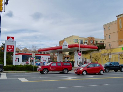 One gas station across the road
