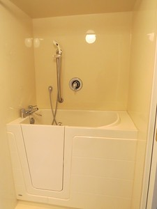 Bonus! - Walk-in bathtub with shower suite 211 at 3931 Shelbourne Street