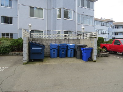 Garbage and recycling area at 3931 Shelbourne Street