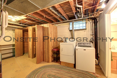 Lower Level Laundry with Cedar Closet