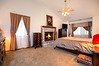 Spacious Master Suite with 3rd Fireplace, Cathedral Ceilings, Window Seat/Storage