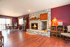 Formal Dining Room with Fireplace and Room for 18 at Sit-down Dining Setting