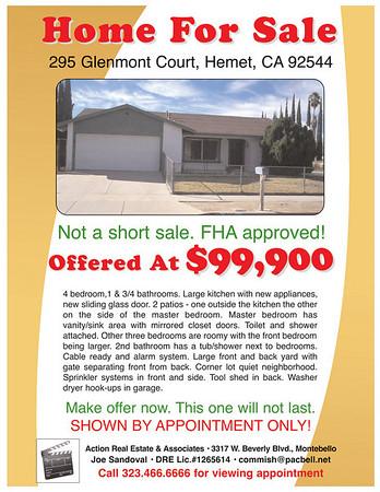 295 GLENMONT COURT, HEMET, CA 92544 • FLYER & CMA