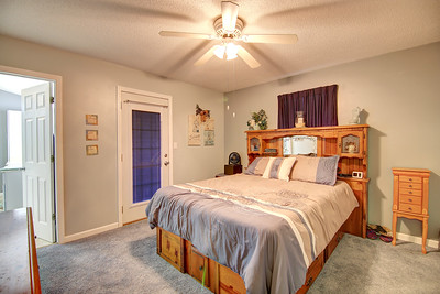 Master Bedroom with Walkout to Hot Tub