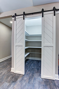 Pantry, with added barn doors.