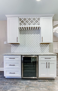 Nice tile work on the backsplash.