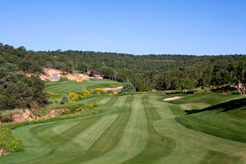 Fairway and green, hole 6, Rainmakers Golf & Recreation Community, Alto, New Mexico (Ruidoso)