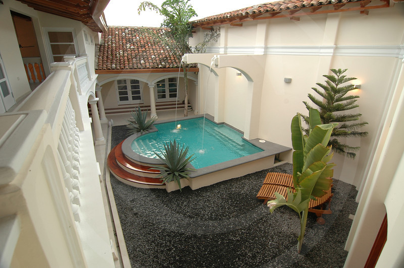 Pool area as viewed from Master Suite, Casa Club, Granada, Nicaragua.