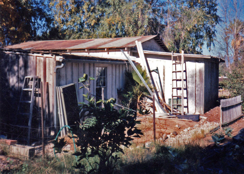 This is the original old barn/shop that Charles built. It stood near where the east back yard gazebo stands now. It was torn down in 1990