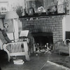The Living Room.  The fireplace hasn't changed except I have an insert in it and had it converted to gas.  There were gaping holes in the mortar and I thought it could pose as a fire hazard.