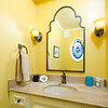 Powder Room<br /> 'Pushed' in the drawer a little and fixed a couple of other defects.