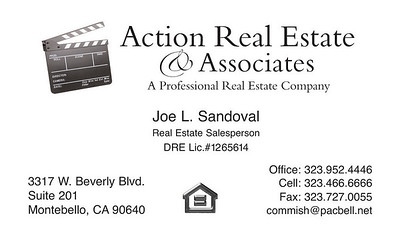 JLS ACTION R.E. BUSINESS CARD