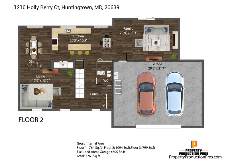 1210 Holly Berry Ct, Huntingtown, MD, 20639 2D 1