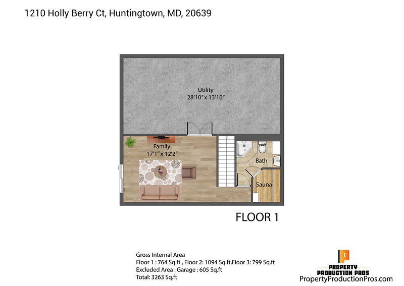 1210 Holly Berry Ct, Huntingtown, MD, 20639 2D 3