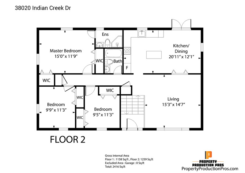38020 Indian Creek Dr in 3D 2D 1
