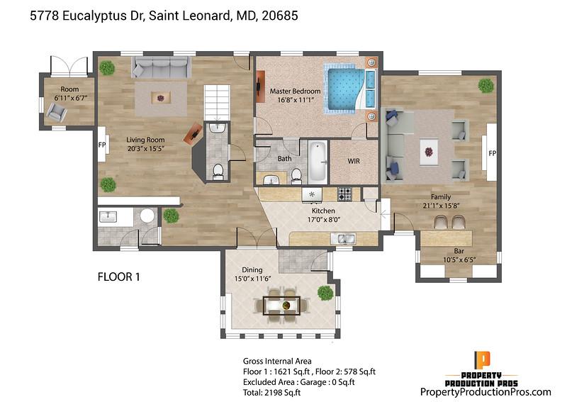 5778 Eucalyptus Dr, Saint Leonard, MD, 20685 2D 1