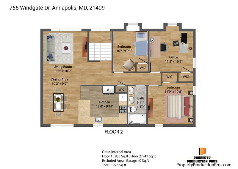 USD_766 Windgate Dr, Annapolis, MD, 21409_2D - 1