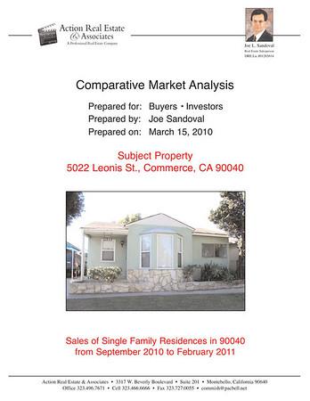 5022 LEONIS ST., COMMERCE, CA 90040 • CMA 03.15.11