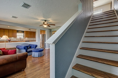 Staircase & Living Room