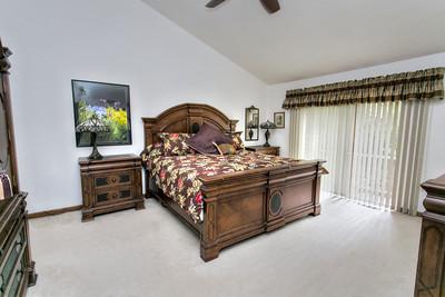 Master Bedroom, with Vaulted Ceiling, Walk-in Closet, Second Floor Deck