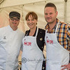 Dale Sniffen with Andre and Kat from My Kitchen Rules provided great entertainment and a tasty snack or two .