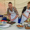 Andre and Kat from My Kitchen Rules provided great entertainment and a tasty snack or two .