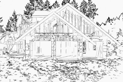Exterior Garage View - Sketch-2