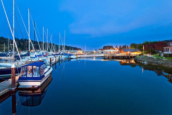 Gig Harbor Marina Twilight
