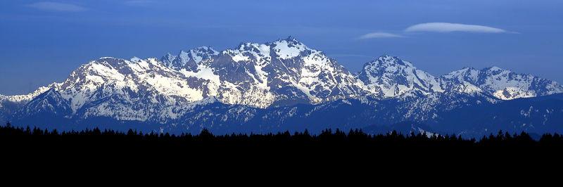 Olympic Mountains above Silverdale Washington