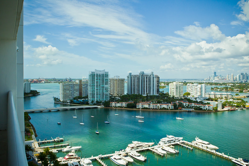 Miami views from a beautiful real estate property listing.