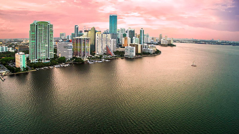 Miami is beautiful, especially from above.  Licensed FAA UAS/Drone pilot.