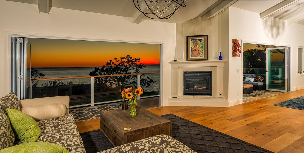 View a Catalina from Laguna Beach home