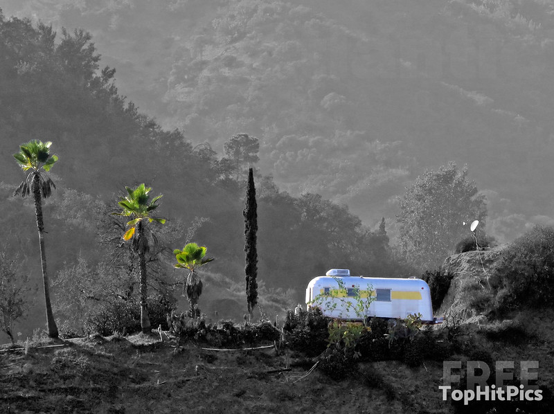 An Airstream Trailer in The Hollywood Hills, Los Angeles